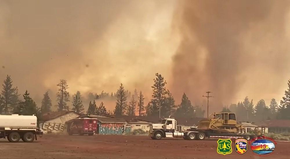 ABD'de aşırı sıcaklar nedeniyle 60'tan fazla orman yangını: Binlerce kişi tahliye edildi - 4