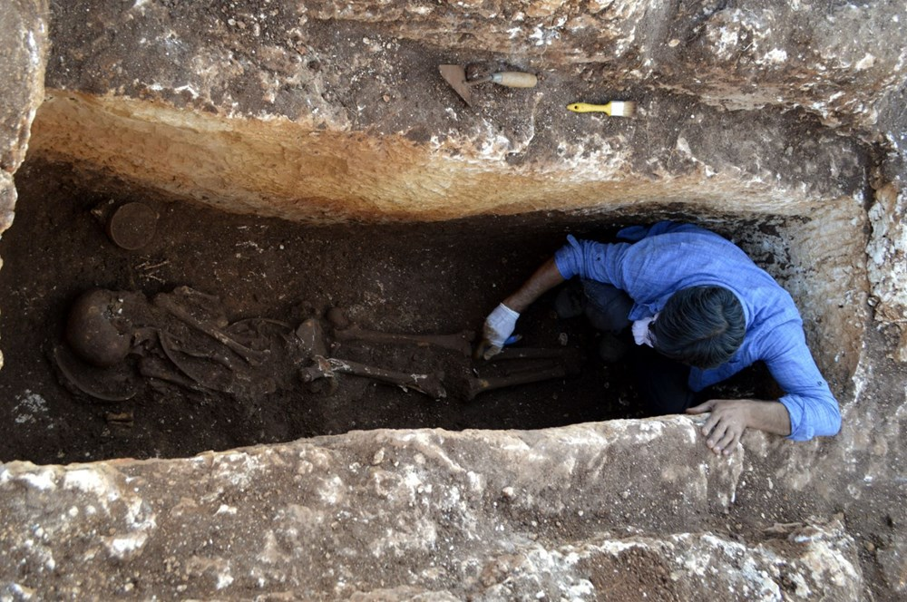 Perre Antik Kenti'nde 1500 yıllık insan iskeleti bulundu - 6