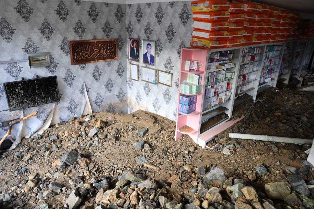 Rize'de sel ve heyelan afetinin hasarı gün ağarınca ortaya çıktı - 7