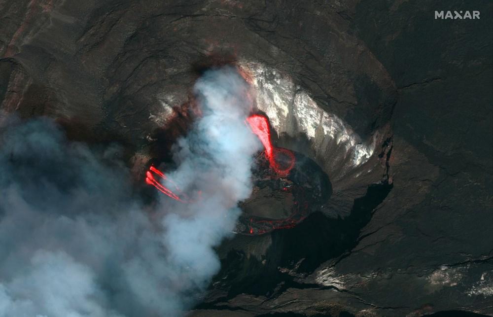 Kilauea Yanardağı'nda patlamaları: Krater gölü buharlaştı - 7