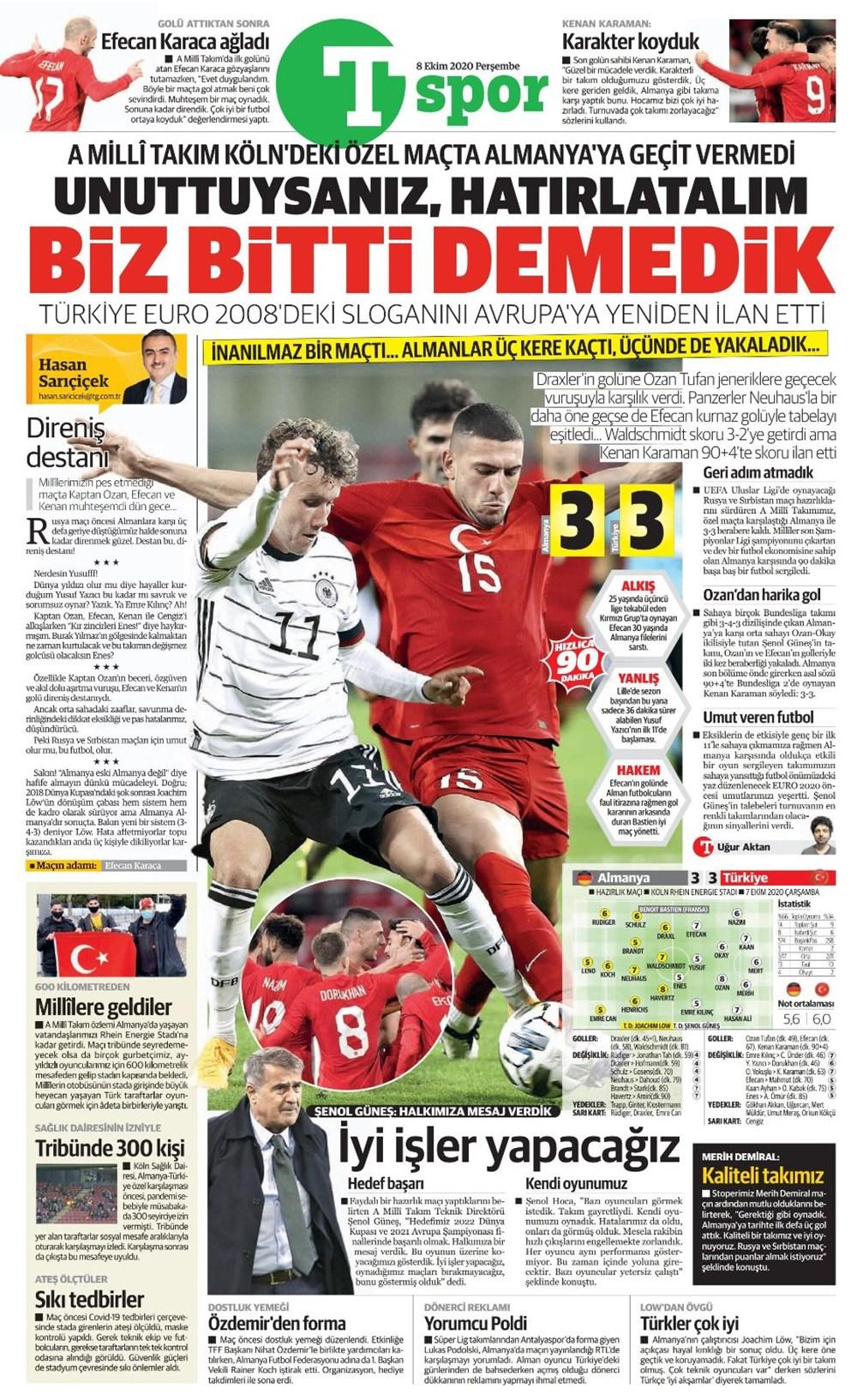 Günün spor manşetleri (8 Ekim 2020) - 14