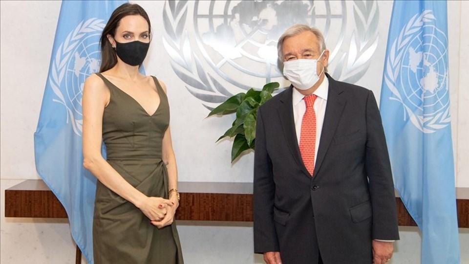 Angelina Jolie ileBM Genel Sekreteri Antonio Guterres New York'ta görüştü.