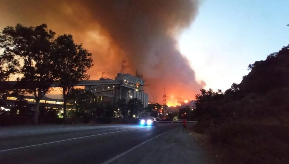 Orman yangınlarında son durum: Alevler termik santrale sıçradı