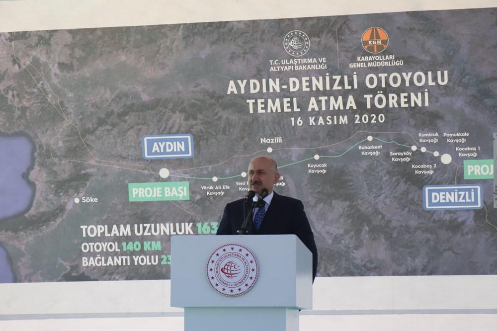 Bakan Karaismailoğlu: Aydın-Denizli Otoyolu seyahat süresini 1 saat 15 dakikaya düşürecek - 12