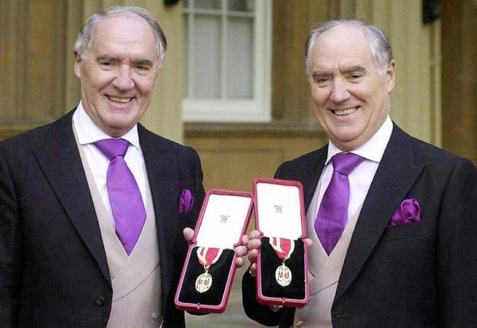 85 yaşındaki Sir unvanlı ikizlerin toplam serveti 4,5 milyar doların üstünde.