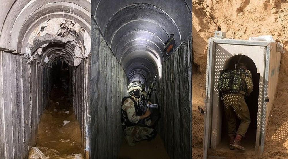 Hamas'ın Gazze'de kullandığı tüneller görüntülendi: İsrail'in hedefinde - 1