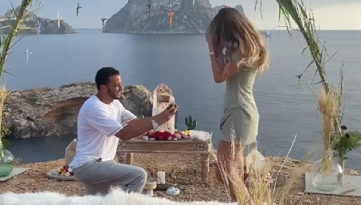 Şeyma Subaşı'na sevgilisi Mohammed Alsaloussi'den  romantik evlilik teklifi