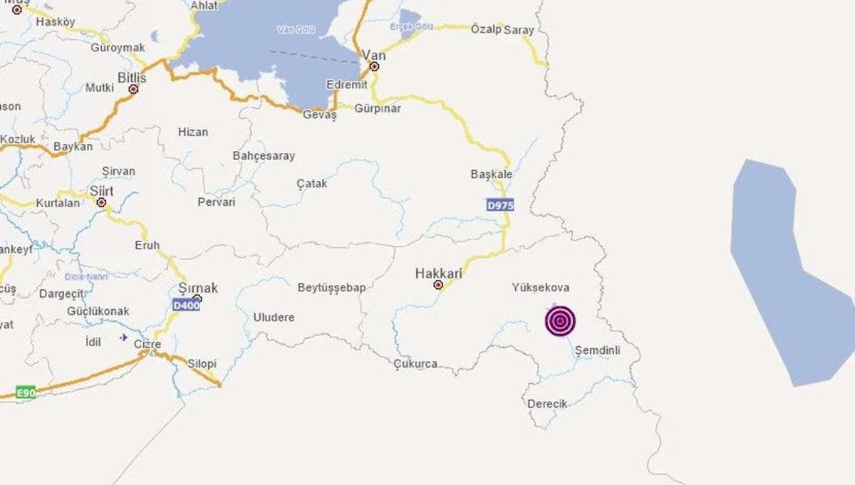 SON DAKİKA: Hakkari'de 3,9 büyüklüğünde deprem | Son depremler