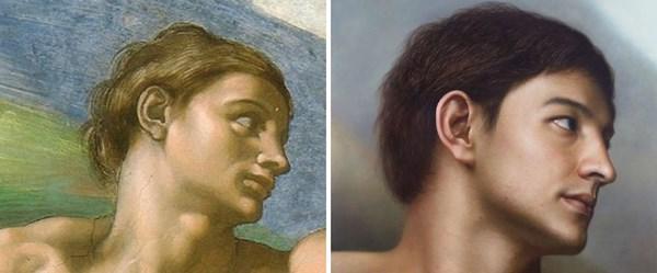Klasik resimler gerçeküstü portrelere dönüştü