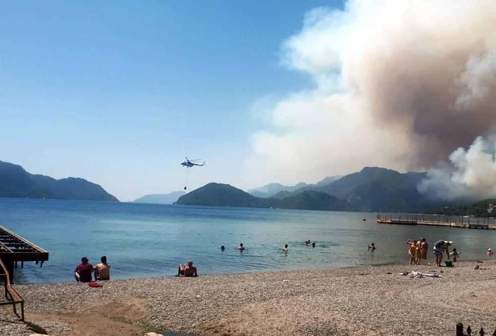 Marmaris'teki orman yangınından acı haber - 1