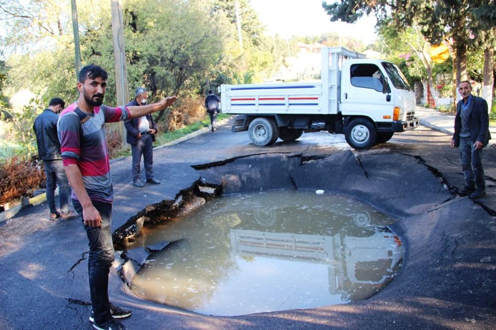 Patlayan asfalta kamyonet düştü: Canımızı son anda kurtardık - 7