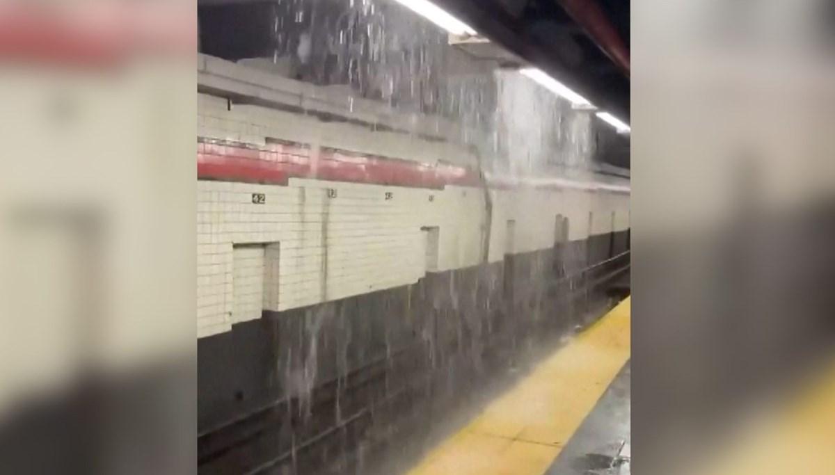 Subway station flooded