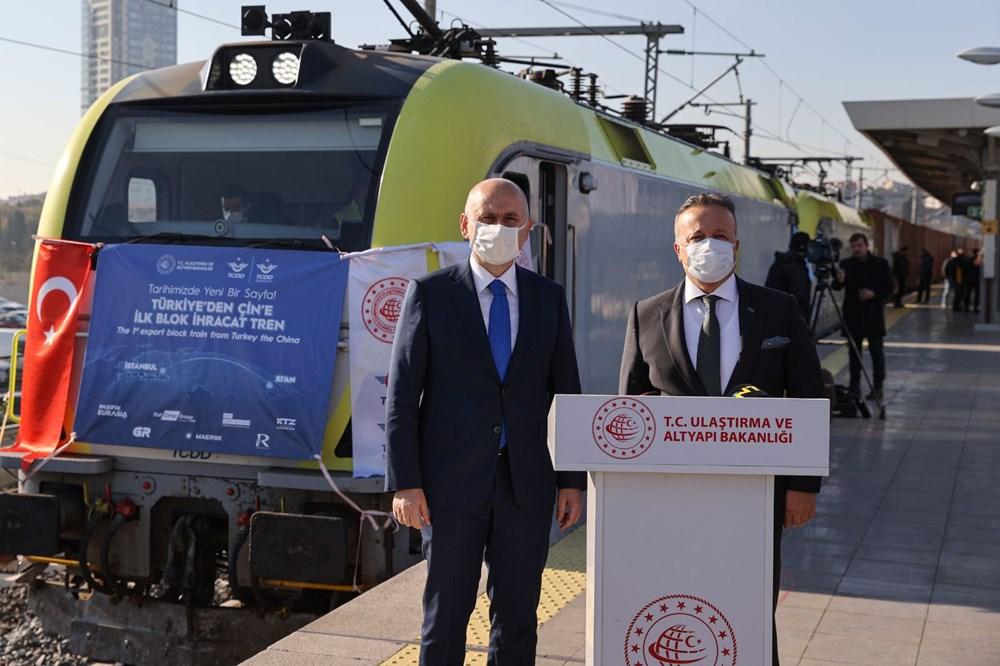 Türkiye'den Çin'e gidecek ilk ihracat treni İstanbul'dan uğurlandı - 11