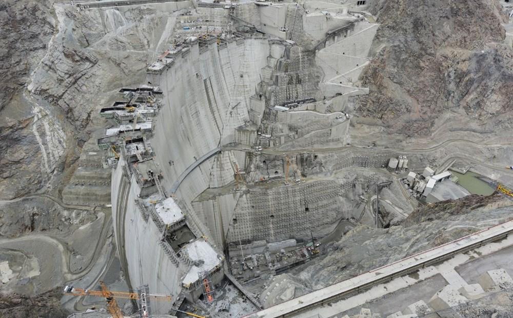 Yusufeli Barajı'nda dökülen 4 milyon metreküp betonla rekor kırıldı - 8