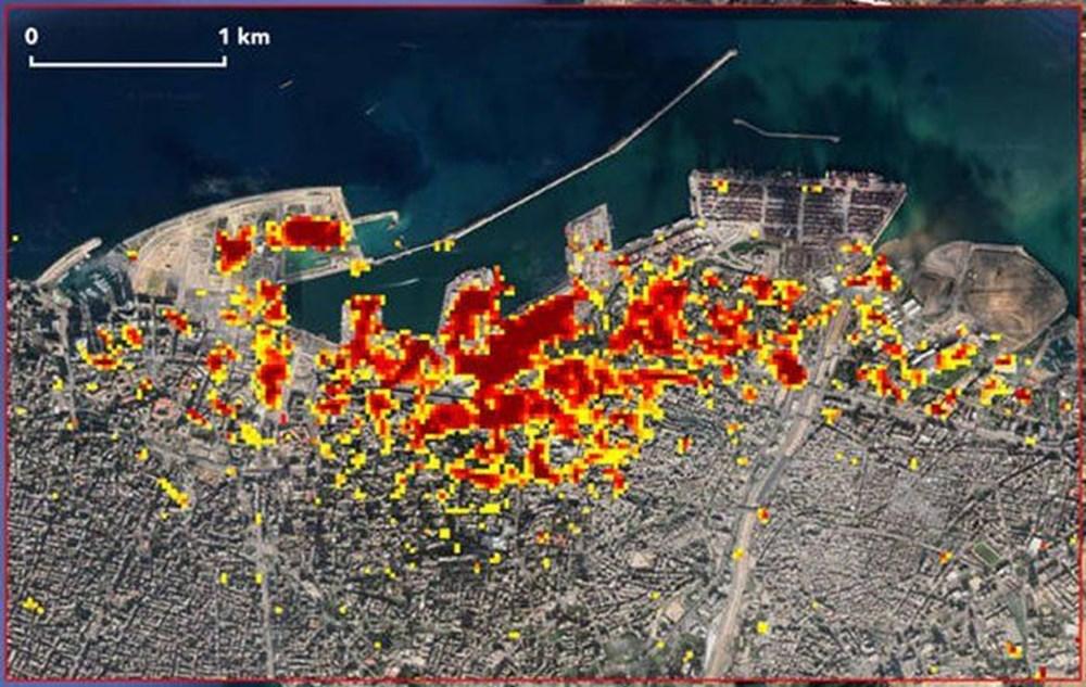 NASA Beyrut'taki patlamanın uydu görüntülerini yayınladı - 2