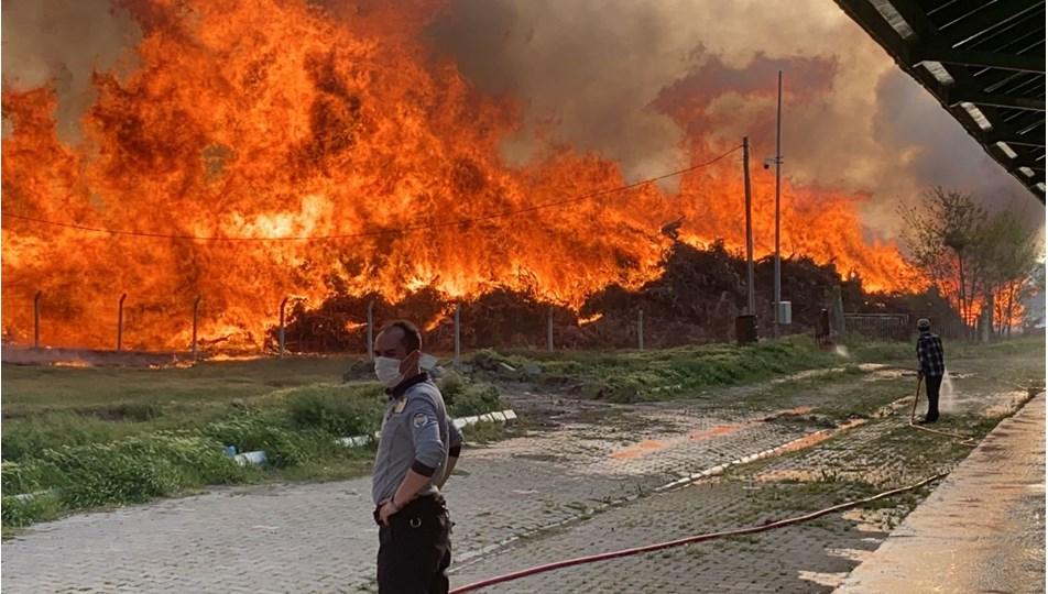 SON DAKİKA HABERİ:Afyonkarahisar'da biyoenerji tesisinde yangın