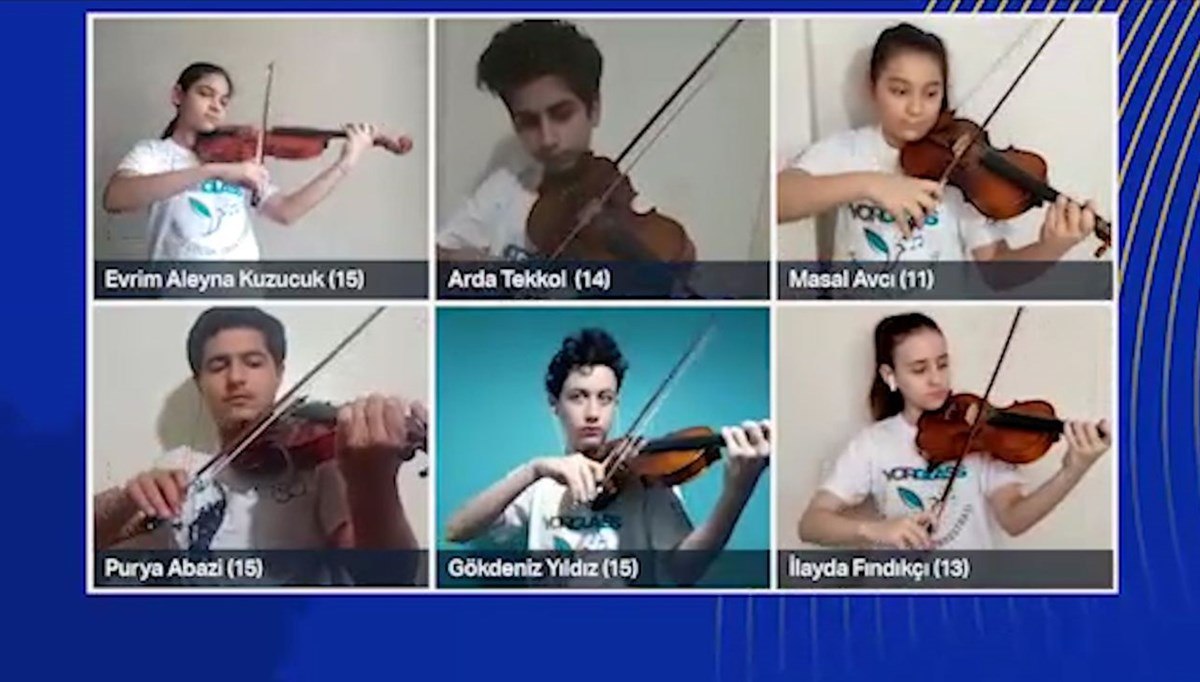 Yorglass Barış Çocuk Senfoni Orkestrası'ndan Hunters Chorus eseri