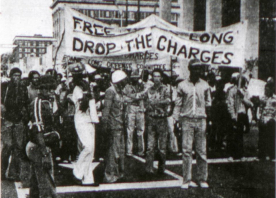 Ronnie Long's life sentence in 1976 caused the protests at that time.
