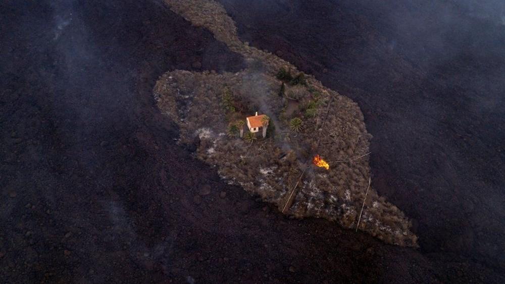 Kanarya Adaları'nın mucize evi: Etrafındaki her şey küle dönmesine rağmen hiçbir zarar görmedi - 5