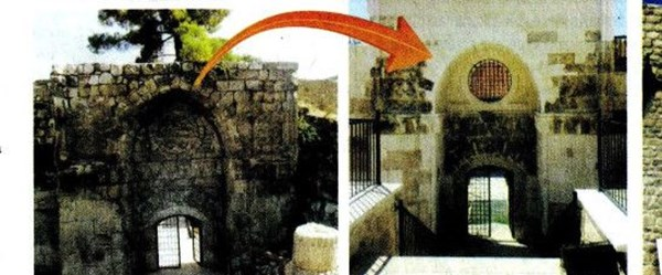 800 yıllık tarihi kapı 'yepyeni' oldu