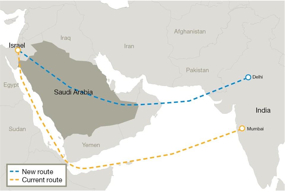 Suudi Arabistan hava sahasını İsrail'e ilk kez açtı.