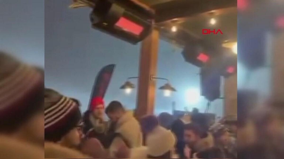 Uludağ'da tepki çeken görüntüler: Tedbirleri hiçe sayarak parti verdiler