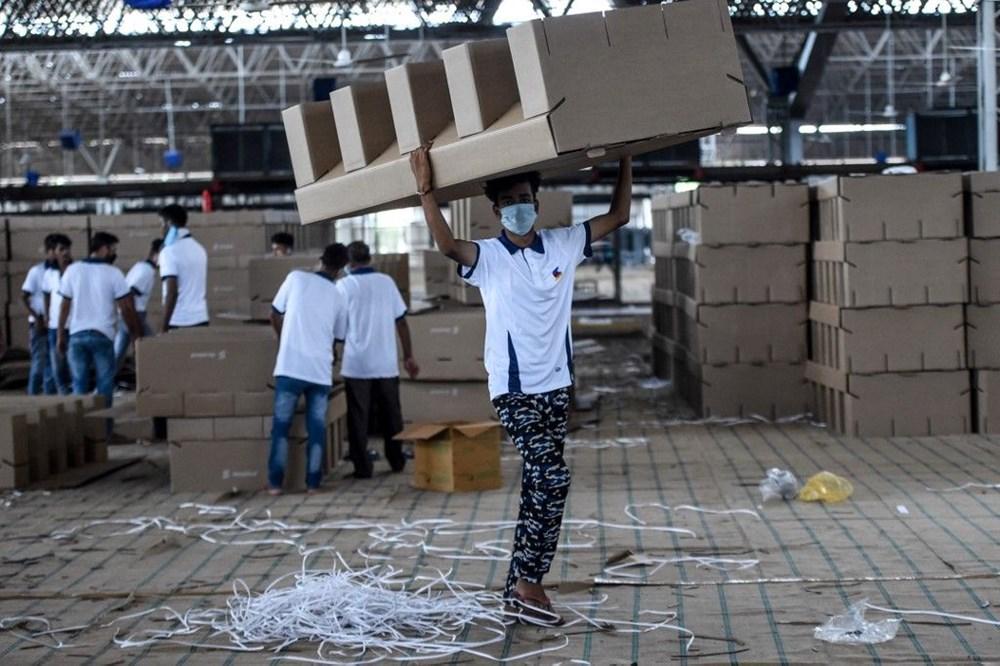 Hindistan'da Covid-19'a karşı karton yatak çözümü - 15