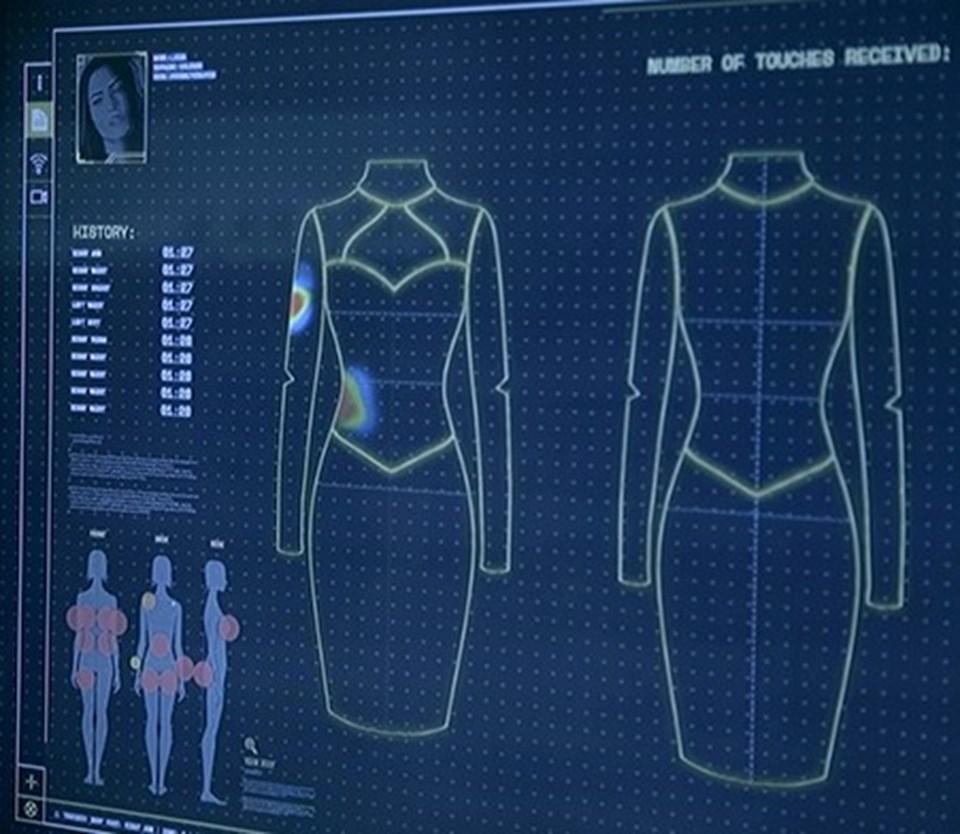 Akıllı elbiseyi giyen 3 kadın4 saatten kısa bir süre içinde 157 defa tacize maruz kaldı.