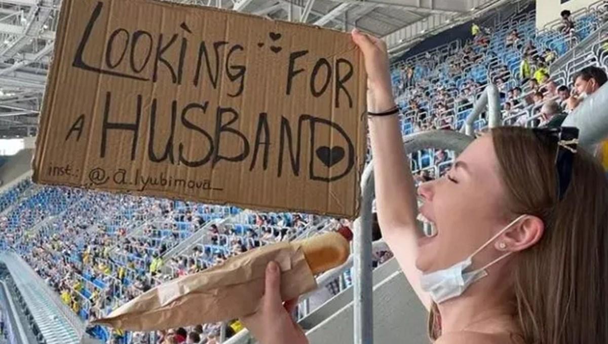 Rus kadın taraftar EURO 2020'de koca arıyor