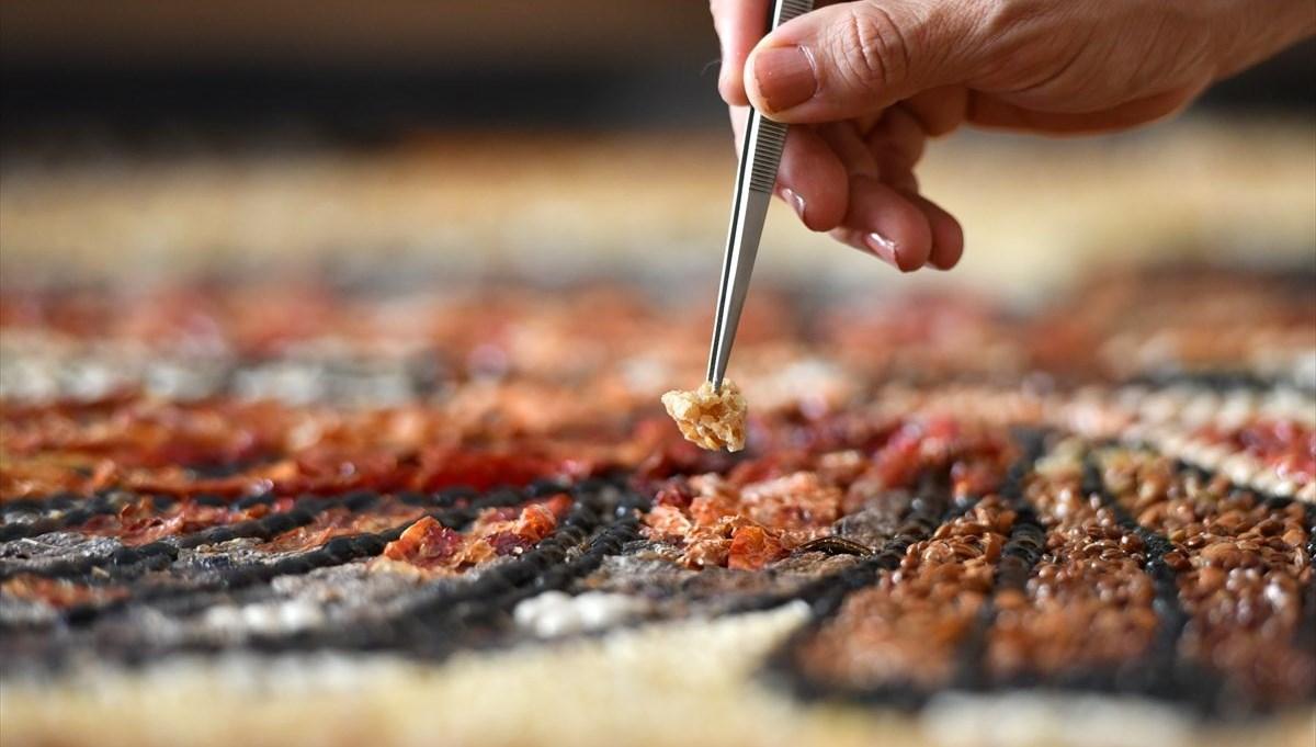 Gaziantep'in yöresel lezzetleri mozaiklerde hayat buldu