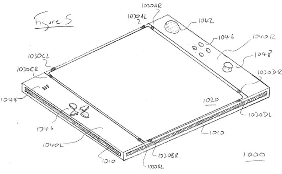 Sony'nin patent başvurusunda yer alan tasarım.