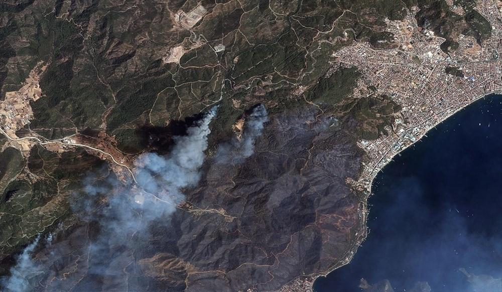 Göktürk uyduları, Manavgat ve Marmaris'teki orman yangınlarını uzaydan görüntüledi - 2