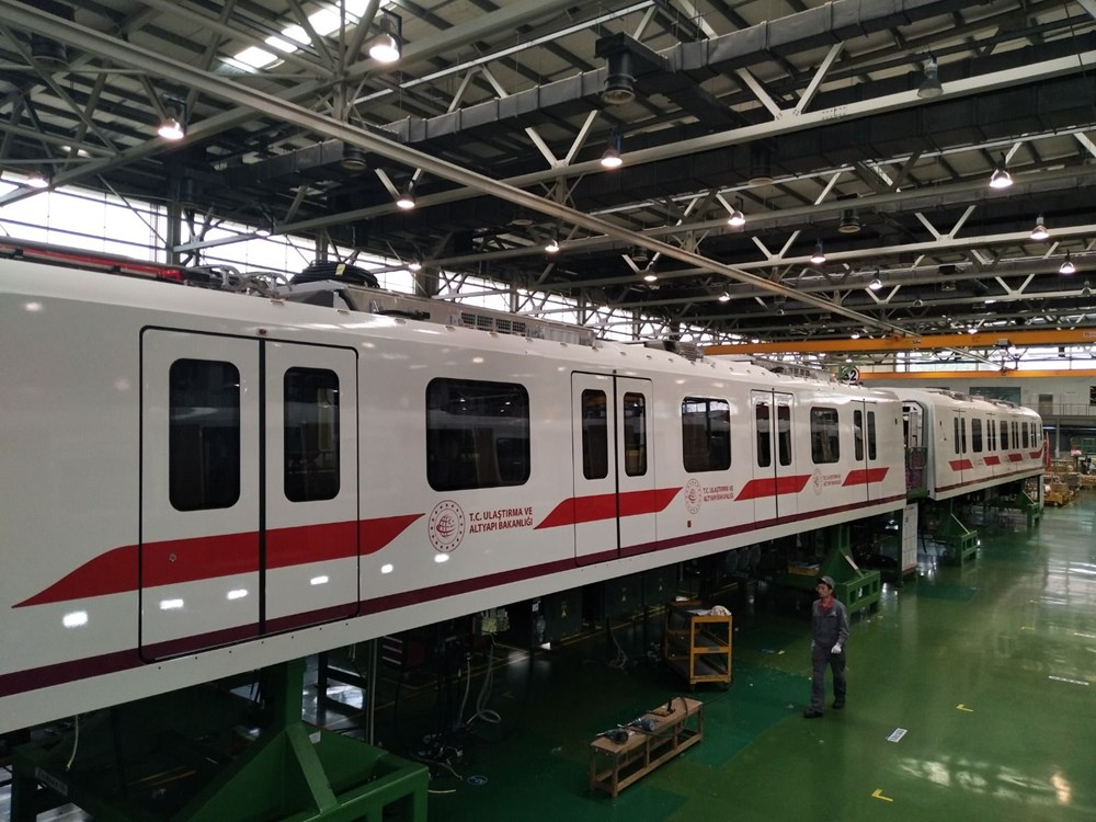 Gayrettepe-İstanbul Havalimanı Metrosu'nda ilk tren raylara indi - 9