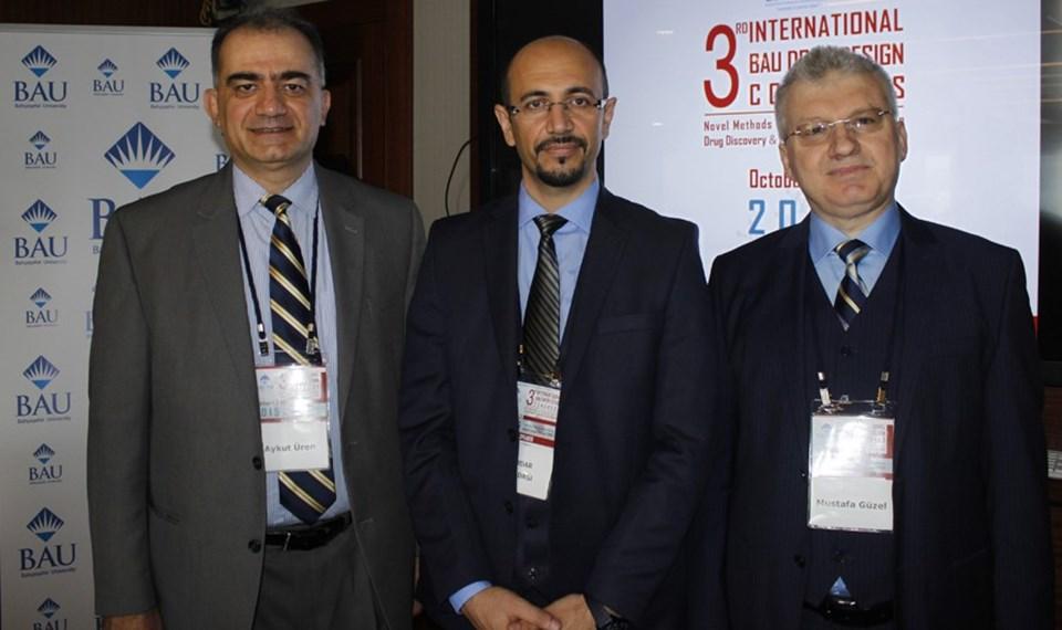 Prof. Dr. Aykut Üren (solda) Doç. Dr. Serdar Durdağı ve Yrd. Doç. Dr. Mustafa Güzel