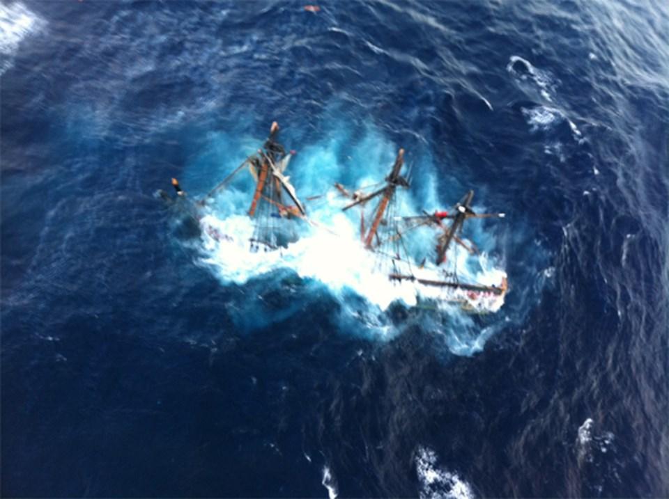 HMS Bounty böyle battı.