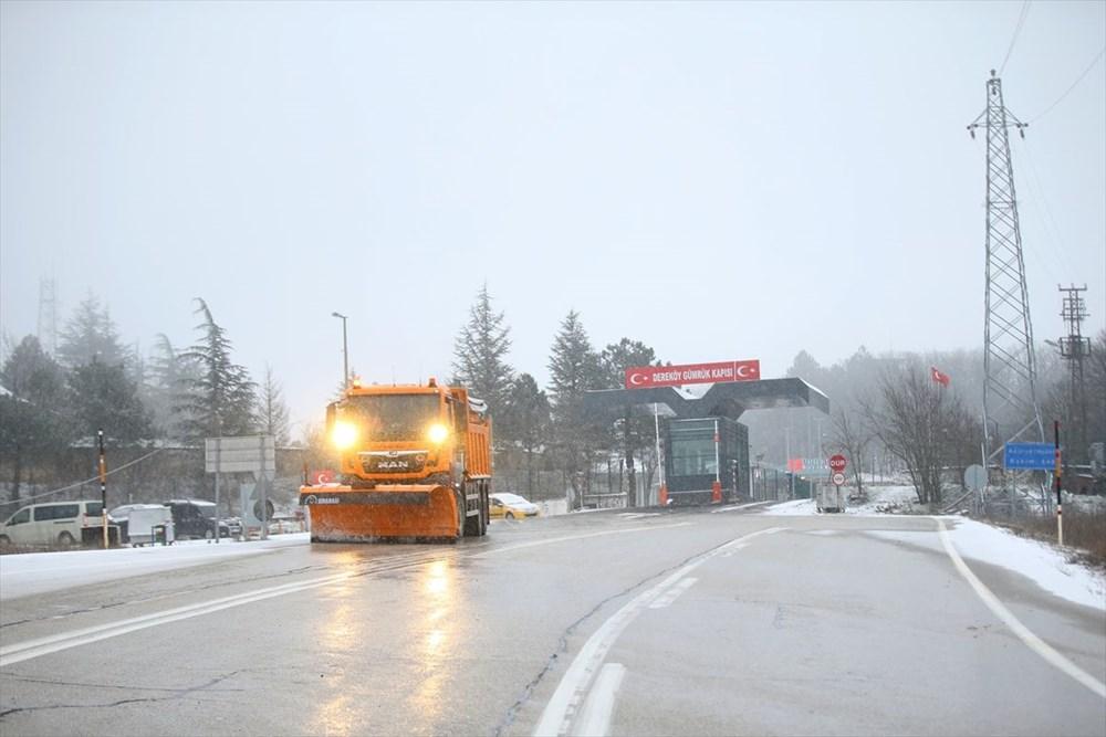 Yurtta kar yağışı (İzmir'in yüksek kesimlerinde kar yağışı etkili oluyor) - 10