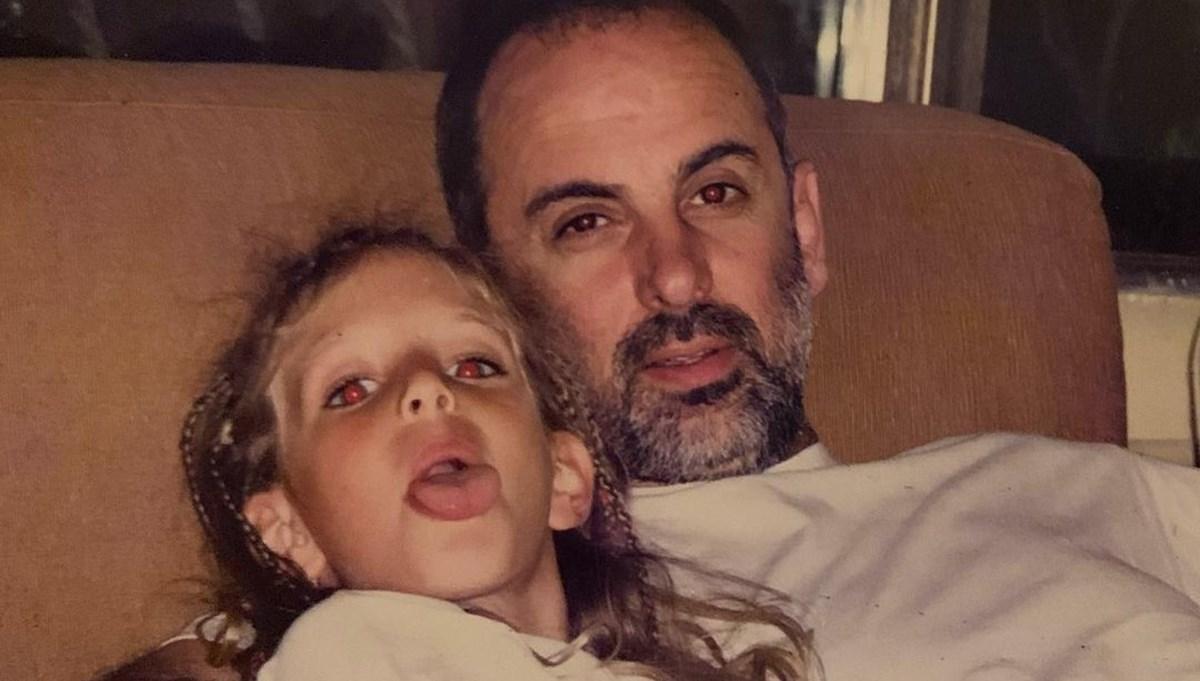 Bige Önal'ın vefat eden babasıyla çocukluk yılları (Ünlülerin çocukluk ve gençlik fotoğrafları)