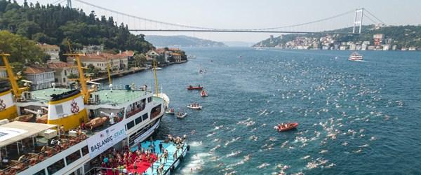 Boğaz'da yüzme yarışması