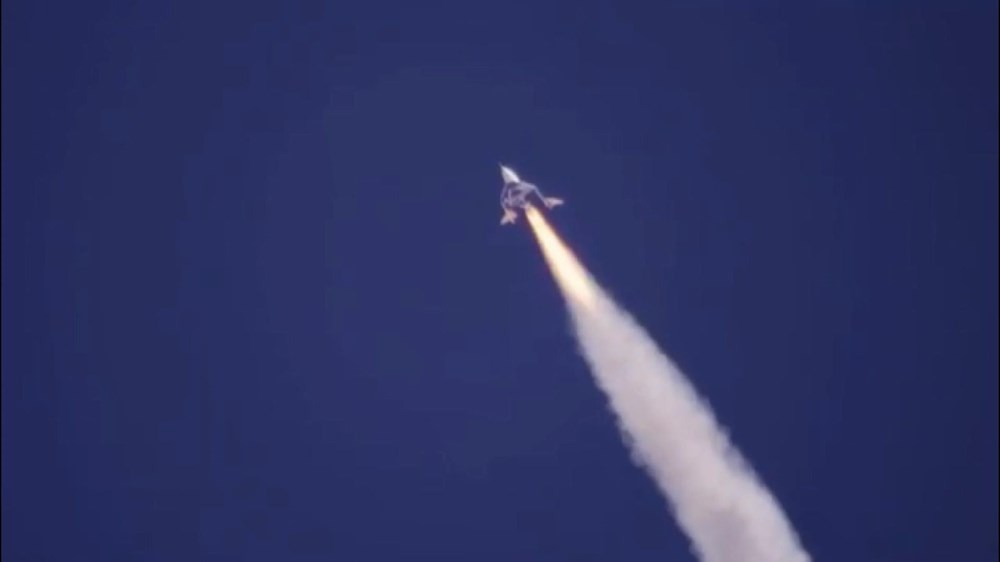Virgin Galactic ikinci uçuş testini başarıyla tamamladı - 1