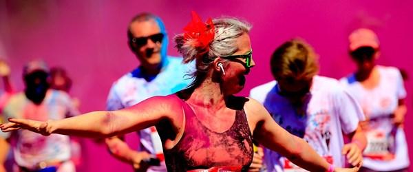 Moskova'da ''2019 Color Run'' maratonu düzenlendi