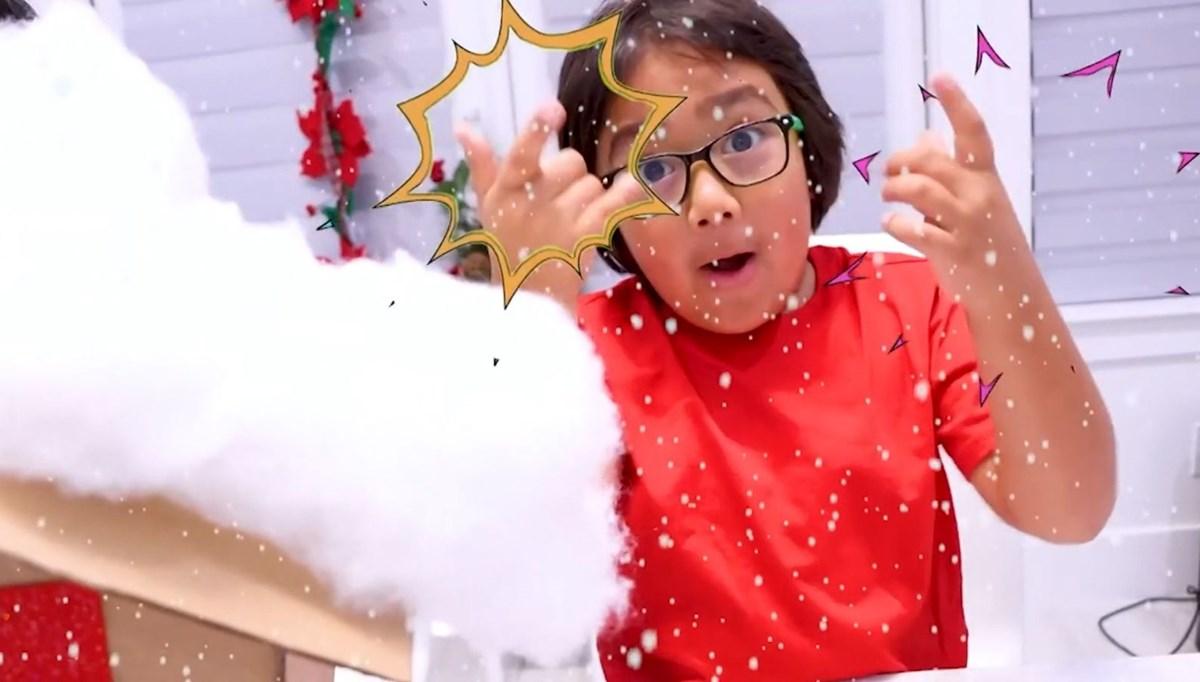 9 yaşındaki Ryan, üçüncü kez en çok kazanan Youtuber oldu