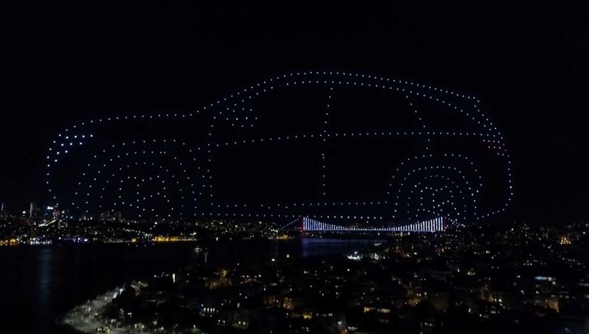 İstanbul'da 580 drone ile ışık gösterisi