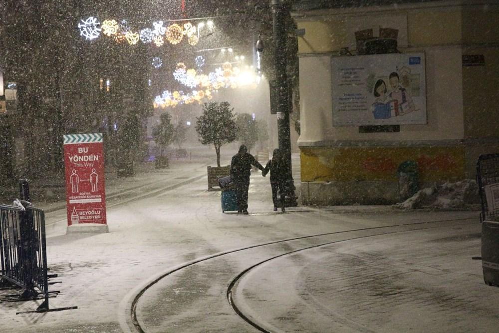 İstanbul'da kar yağışı yeniden etkisini artırdı - 25