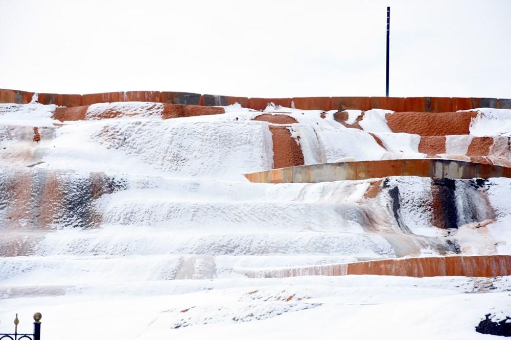 Sivas Altınkale'de buz ve ateşin karşılaşması! 45 derece su, 50 metre sonra buz tutuyor - 7