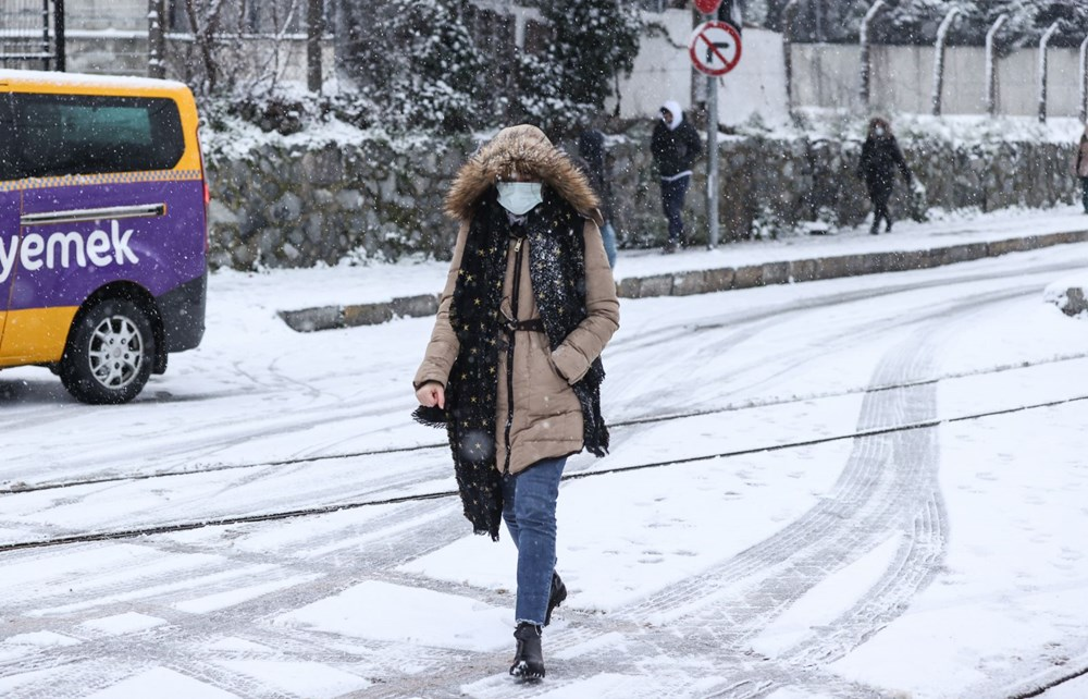 İstanbul'da kar yağışı yeniden etkisini artırdı - 19