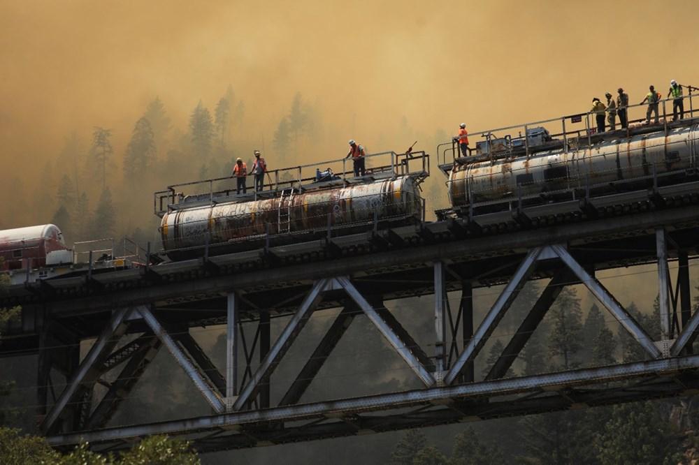 ABD'deki yangın 82 kilometreye yayıldı - 8