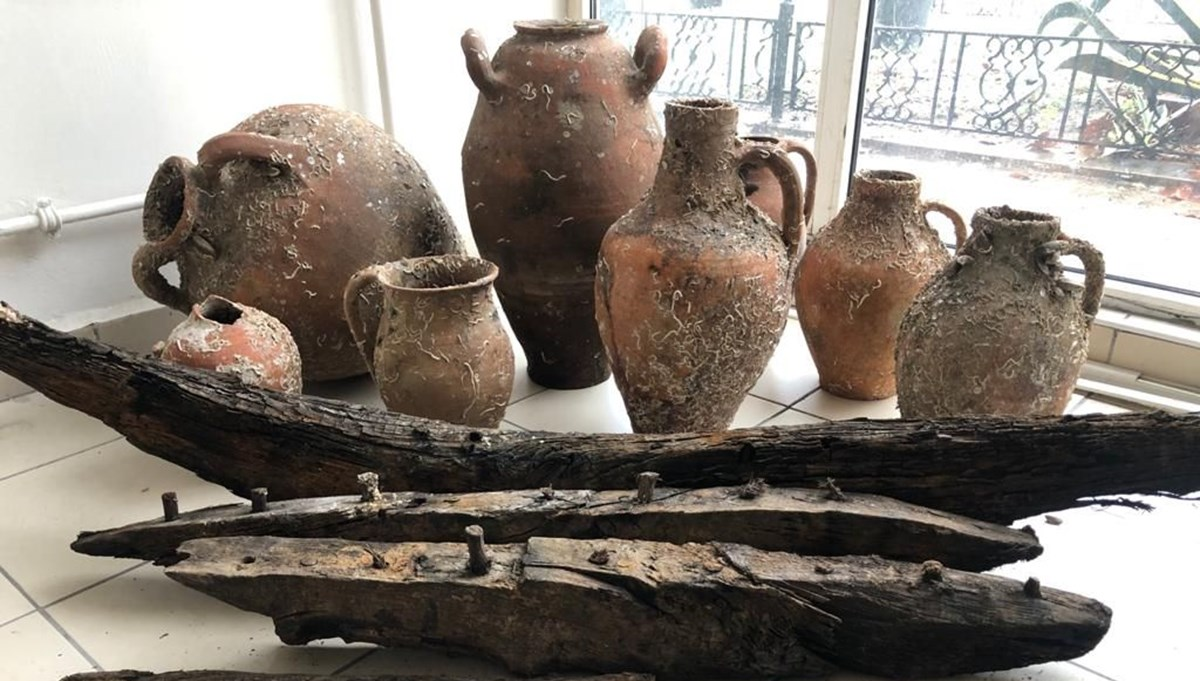 Balıkçı ağlarına, Roma dönemine ait amforalar takıldı
