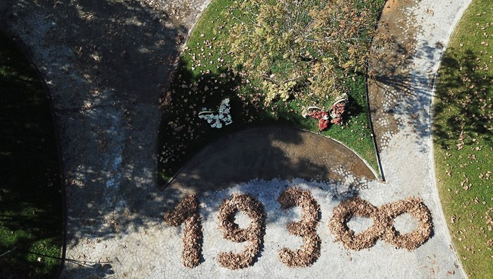 Ölümünün 81.yılında Atatürk'e sonbahar yapraklarıyla anma