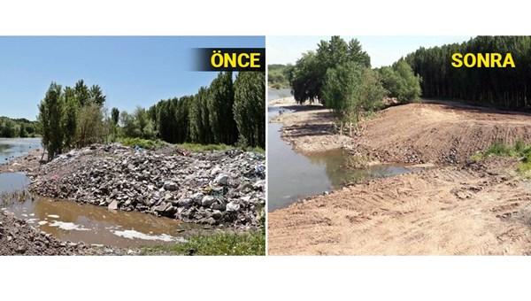 UNESCO mirası Hevsel Bahçeleri'ne dökülen molozlar temizlendi<br>