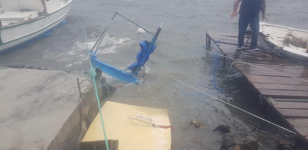 Balıkesir Ayvalık'ta fırtına: 20 tekne battı - 15
